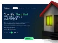 Rensource night day website minimal landing page enterprise energy business