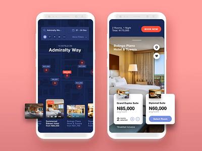 Invision Studio - Hotel Concept freebie map search invision studio iphone x hotel ios app mobile ui invision