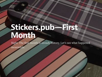 Stickers.Pub - First Month