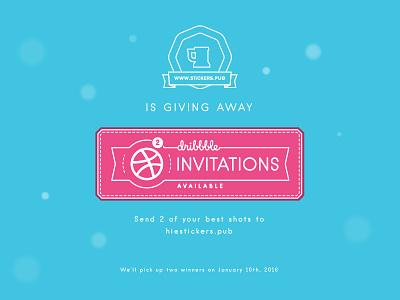 2 Dribbble Invitations prospects available invitations invites invitation dribbble