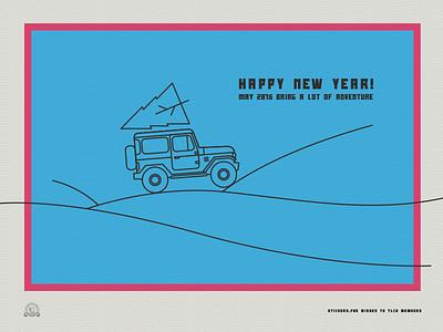 A holidays greeting card for Toyota Land Cruiser Association new year christmas holidays greetings tlca fj40 land cruiser toyota