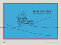A holidays greeting card for Toyota Land Cruiser Association