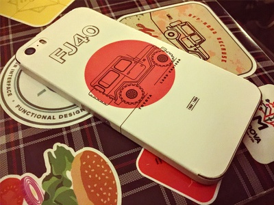Here's how it looks as an iPhone 5s Skin laptop phone cover skin sticker off-road 4x4 bj40 j40 fj40 land cruiser toyota