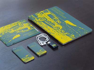 Summer Adventure 4x4 Design cover skin laptop phone sticker land cruiser toyota 4x4 off road experience adventure summer