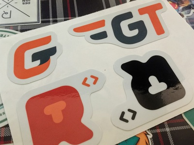 Prototyping GT / RT Development Logos graphic artwork stickerspub prototype design sticker logo