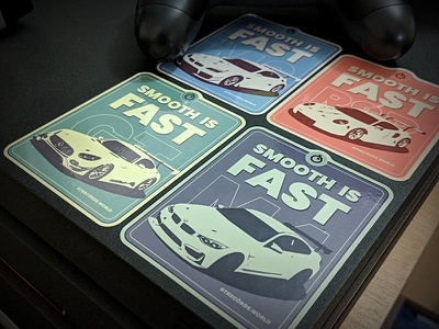 gtrecords.world smooth is fast vintage stickers collection porsche mercedes bmw stickers racing gaming ps4 gtsport gran turismo