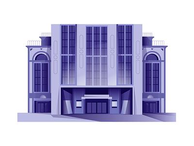 Art Deco Building architecture design flat animation vector 2d illustrator illustration