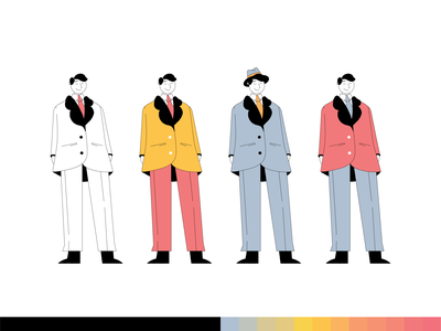 Manhattan styleframe animation character design character vector 2d illustration realestate realestatelife
