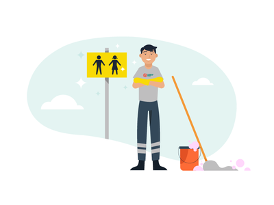 Blitz Cleaning Initiative after effects vector flat 2d animation cleaning style frames