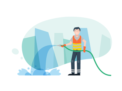 Blitz Cleaning Initiative explainer video flat 2d animation style frame vector animation