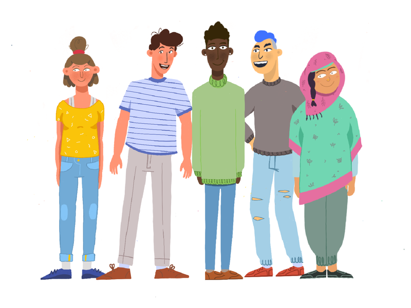 Teens illustration character character animation character design animation