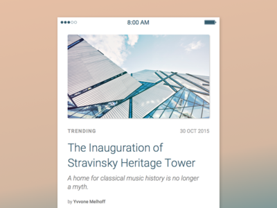 News Page interface android ios typeface ui mobile app roboto news