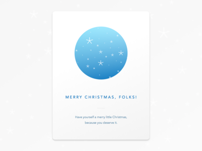 Snow Orb avenir clean minimal wish snow blue ball orb card christmas