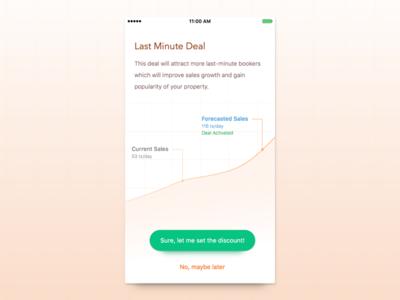 Last Minute Deal freebie discount deal graph mobile promotion grid minimal ios ui sales data