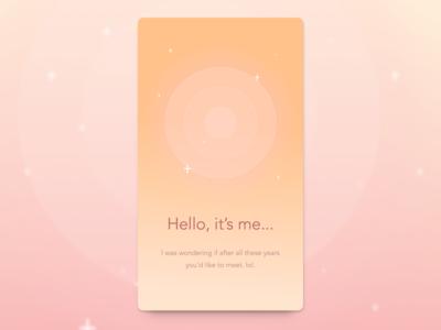 """Hello ╮(""""•͡_•͡)╭  sparkle new year hello wave circular circle card"""