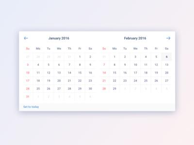 Date Picker gradient simple clean subtle picker month date picker