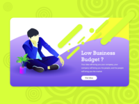 Low Business budget Illustration