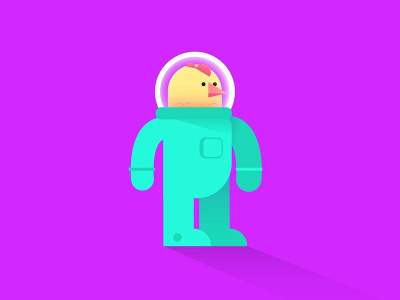 Astronaut astronaut character character design illustration chicken