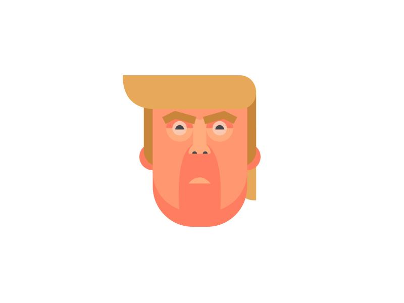 Trump WIP illustration usa portrait face character donaldtrump trump