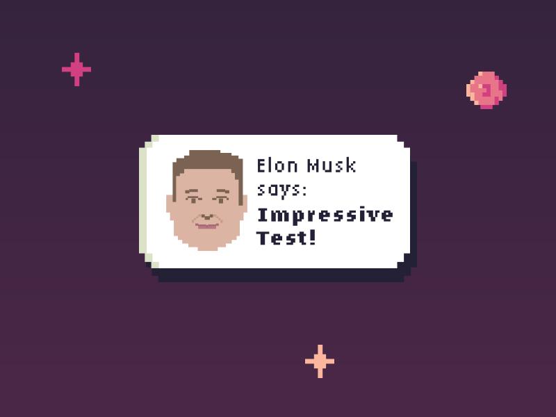 Elon Musk 8bits pixel face character rocket space elonmusk spacex elon musk
