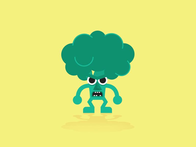 Angry Broccoli green character vegetables veggie broccoli angry