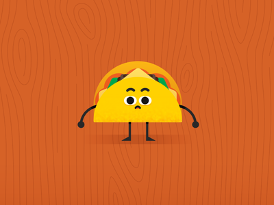 Taco Character mexican food crispy table vector wip illustration characterdesign character taco