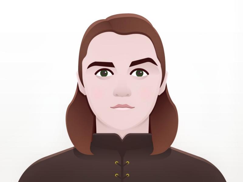 Arya Stark vector portrait got games of thrones character illustration arya stark arya