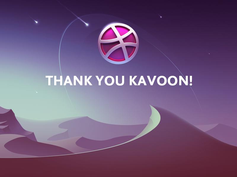 Thank you! logo landscape invite dribbble thanks