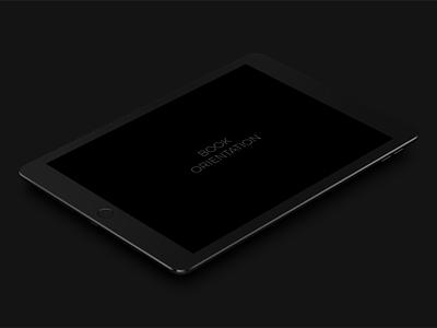 Ipad Pro 9.7 Dark Mockup smart object psd dark pro ipad mockup free