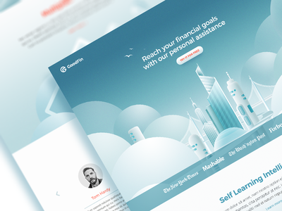 Financial assistant landing page