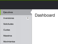 Dashboard navigation process