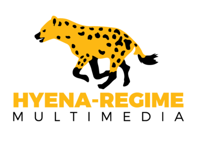 Hyena-Regime Logo hyena vector typography illustration design logo