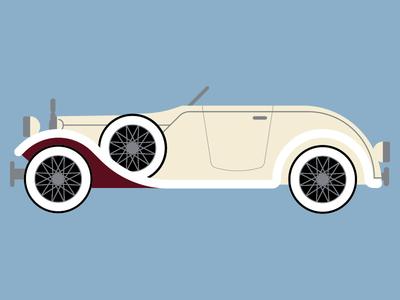 Classic Car classic car blue illustration flat car