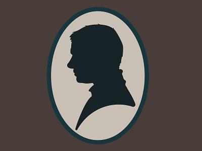 Watson vintage bbc tv show silhouette cameo sherlock watson