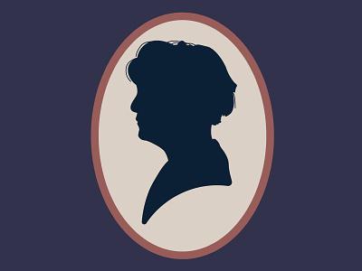 Hudson tv show bbc silhouette cameo vintage hudson sherlock