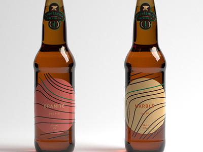 Stonesmith Bottles typography flat branding retro vintage