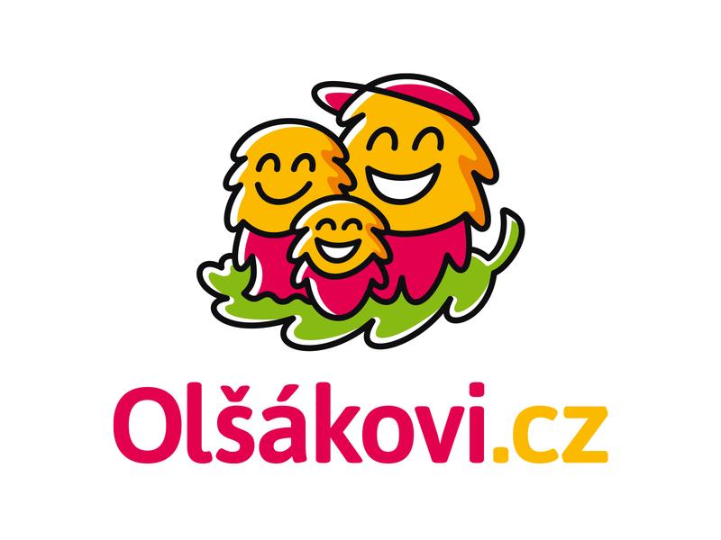 Olšákovi.cz logo leaf clothes children mascot kids character
