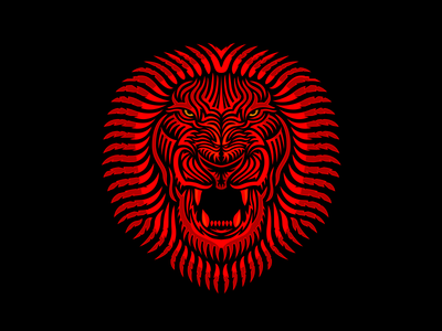 Royal Salute animal angry roar red detailed royal lion