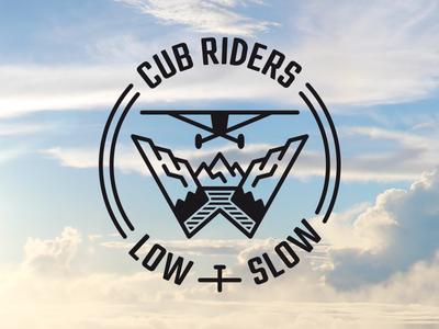 Cub Riders Logo mountains personal logo w nature bush flying bushflying plane