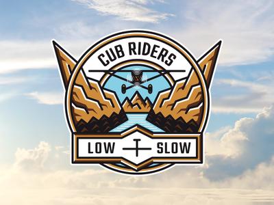 Cub Riders T-shirt t-shirt mountains personal logo w nature bush flying bushflying plane