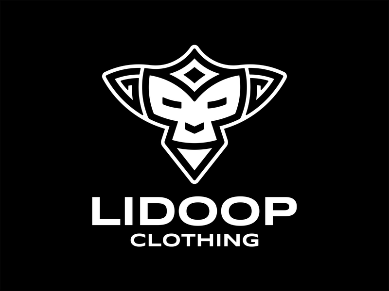 Lidoop Clothing logo luxury street blackandwhite brand clothing monkey ape