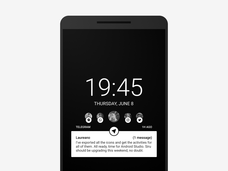 Android Ambient Display redesign redesign mockup display ambient android