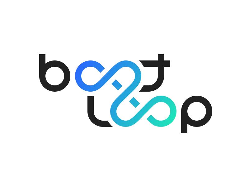Bootloop infinite loop logotype technology logo web blog bootloop