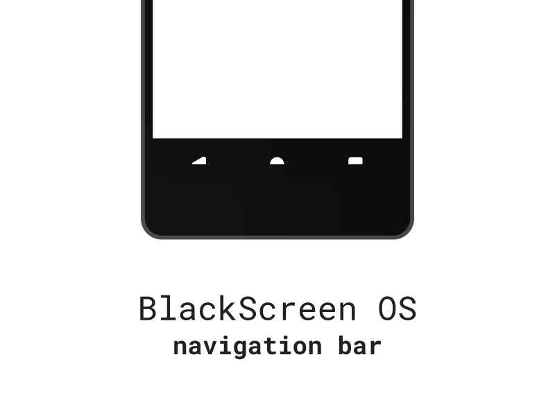 BlackScreen OS mockups project mockup rom android os screen black