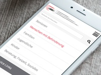 mobile navigation, responsive webdesign