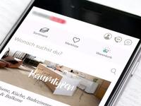simple mobile navigation, e-commerce