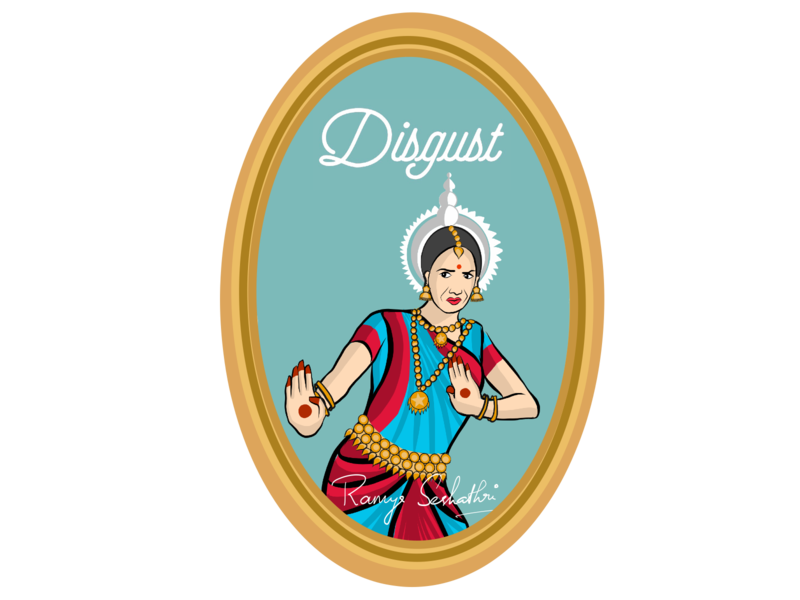 Disgust expressed in Indian dance form Odissi
