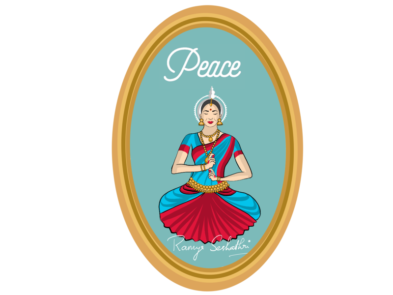 Peace expressed in Indian dance form Odissi