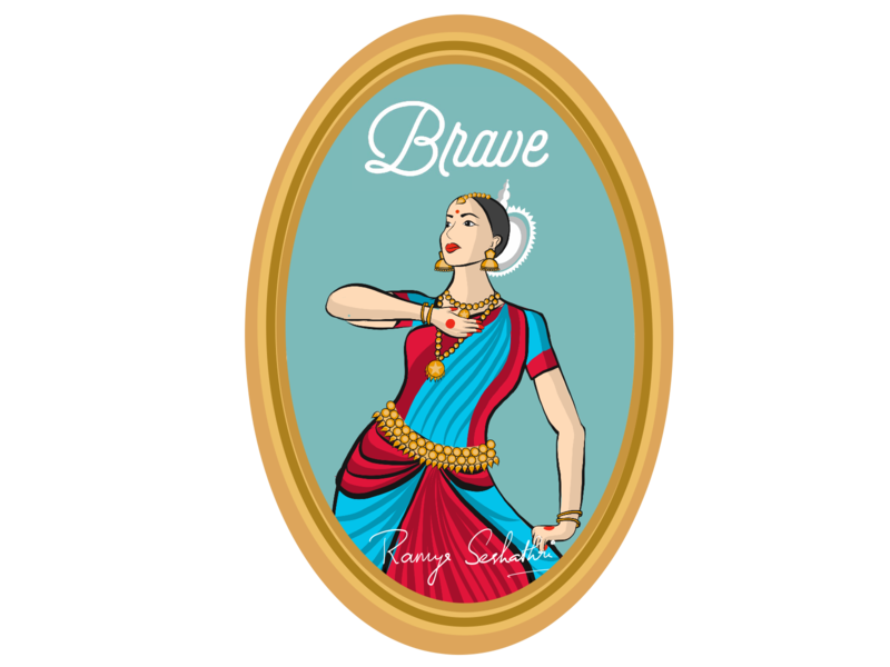 Bravery expressed in Indian dance form Odissi