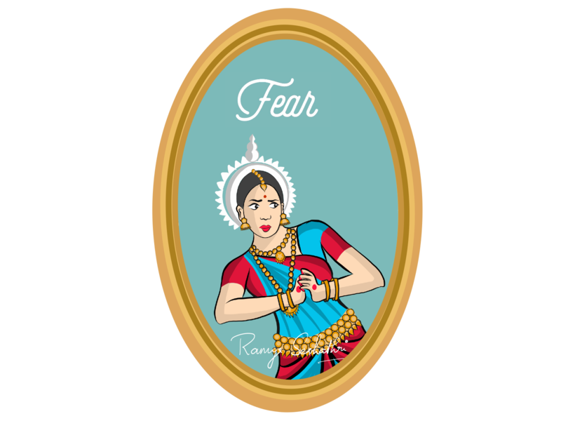 Fear expressed in Indian dance form Odissi